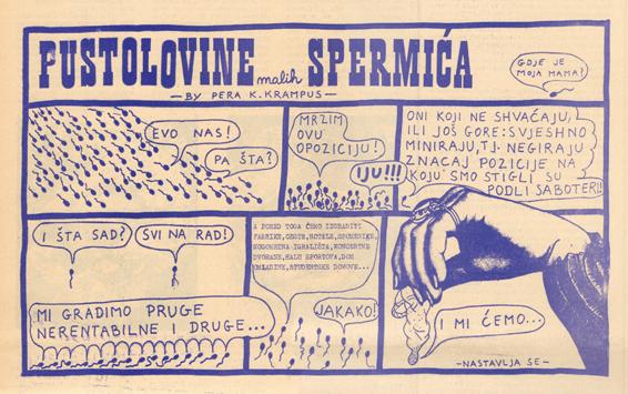 Kvesićev strip objavljen 1971 u Omladinskom Tjedniku